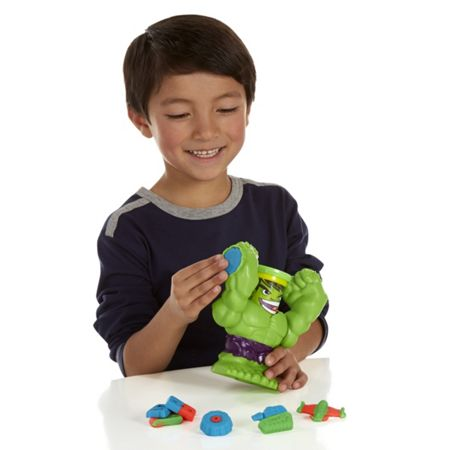 Play Doh Smashdown hulk with marvel can-heads