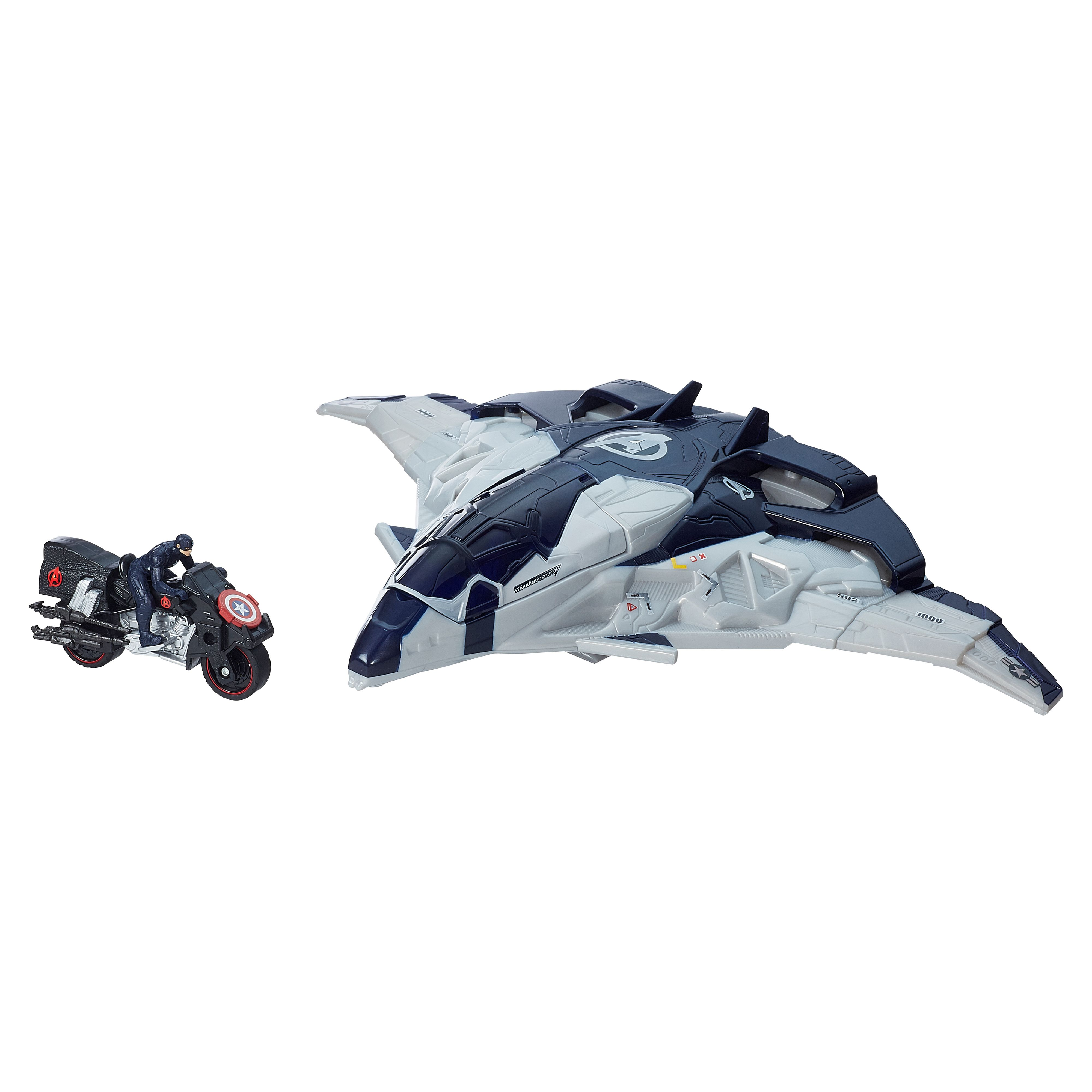 The Avengers Cycle blast quinjet