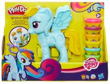 Play Doh Rainbow Dash Style Salon Playset