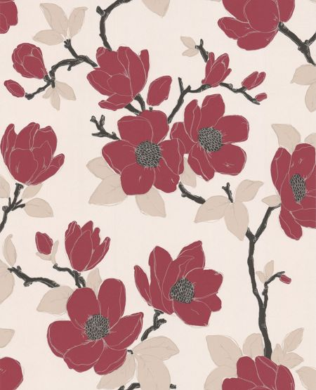 Graham & Brown Elinor Carmine Wallpaper Sample