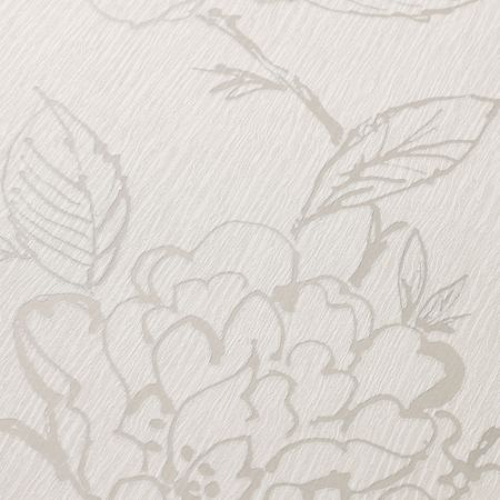 Graham & Brown Bloom White Wallpaper Sample