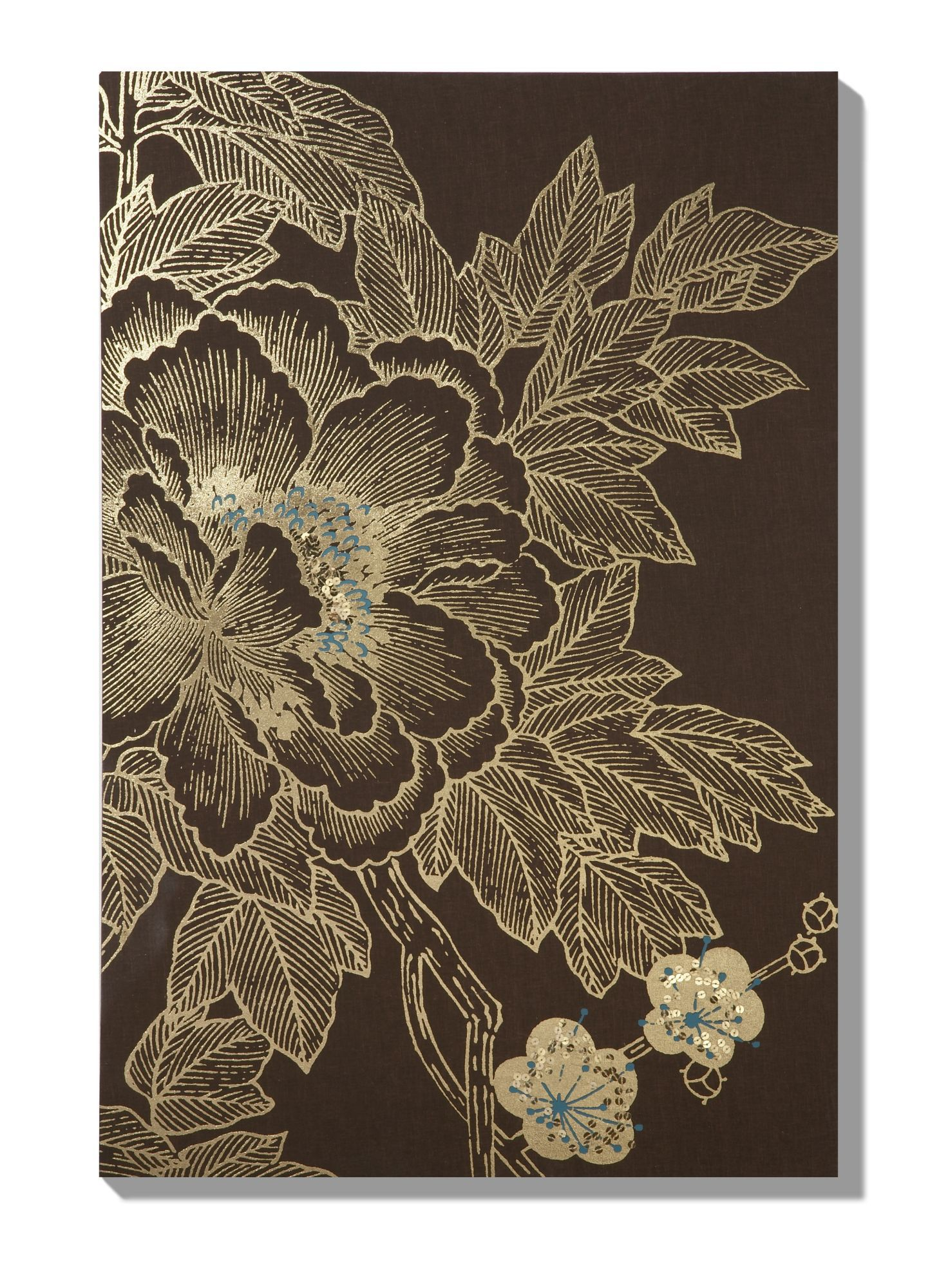 Monsoon Lhasa lotus chocolate wall art