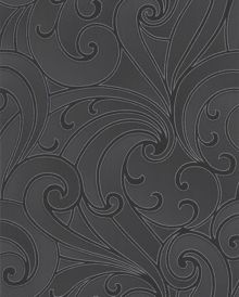 Graham & Brown Charcoal saville wallpaper