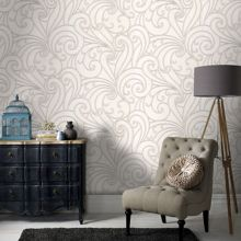Graham & Brown Silver saville wallpaper