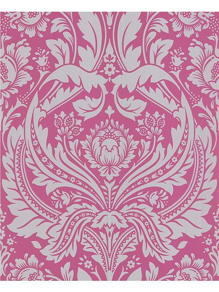 Graham brown pink silver desire wallpaper house of fraser for Pink and silver wallpaper