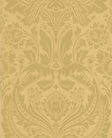 Graham & Brown Mustard/gold desire wallpaper