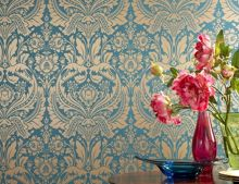 Graham & Brown Teal/gold desire wallpaper