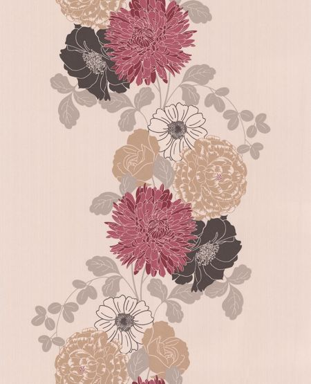 Graham & Brown Red ruby adore wallpaper