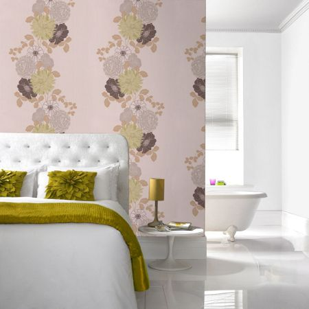Graham & Brown Green adore wallpaper