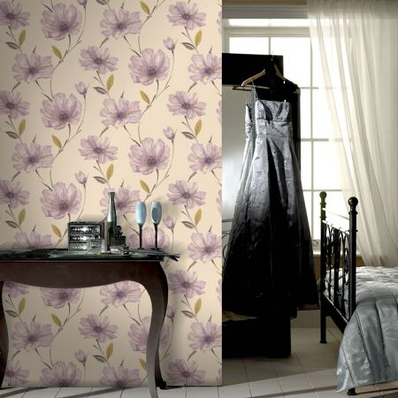 Graham & Brown Lilac lavender spirit wallpaper