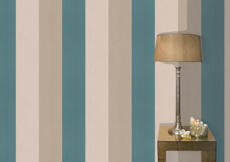 Graham & Brown Teal/gold figaro wallpaper