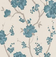 Graham & Brown Dark green teal love letter wallpaper
