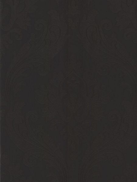 Graham & Brown Black vintage flock wallpaper
