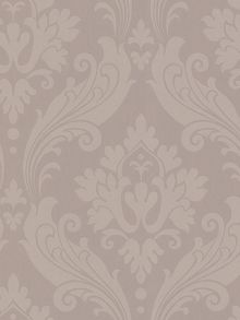 Graham & Brown Beige taup perfect vintage flock wallpaper