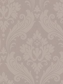 Beige taup perfect vintage flock wallpaper