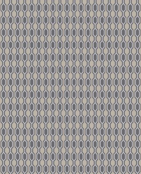 Graham & Brown Stone taupe/charcoal/silver hicks wallpaper