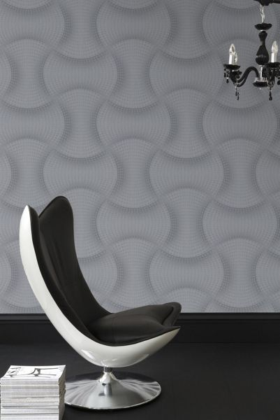Graham & Brown Grey ephemeral wallpaper