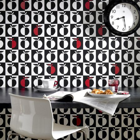 Graham & Brown Black orchard/white wallpaper