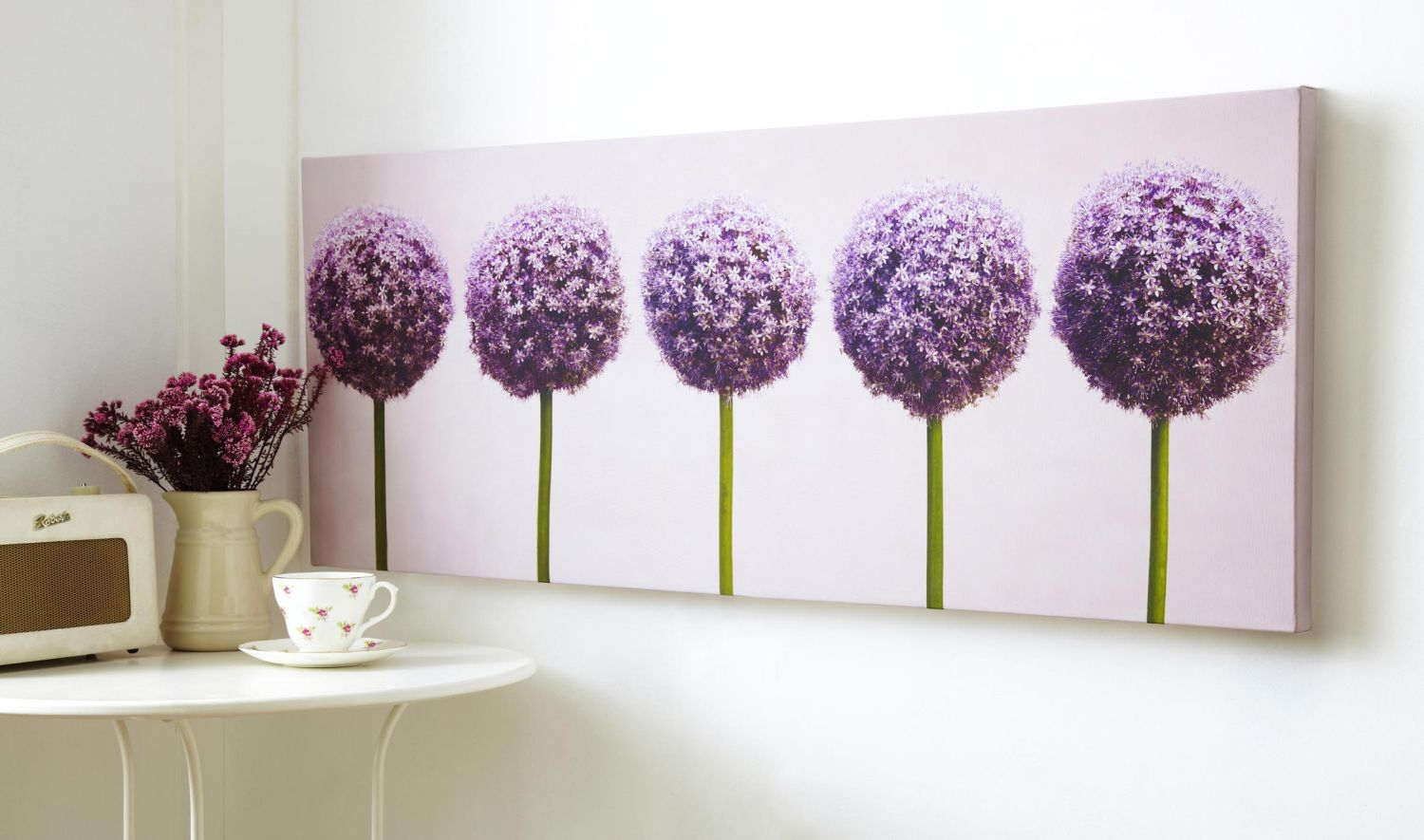 Row of alliums wall art