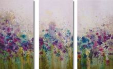 Watercolour meadow wall art