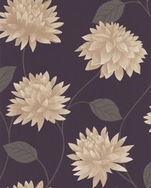 Graham & Brown Plum romance wallpaper