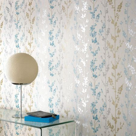 Graham & Brown Blue teal berries wallpaper