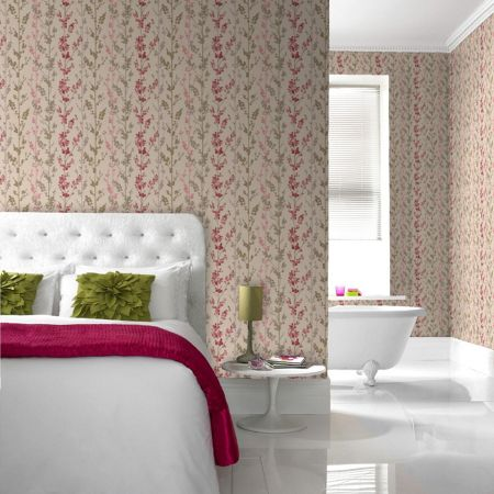 Graham & Brown Pink berries wallpaper
