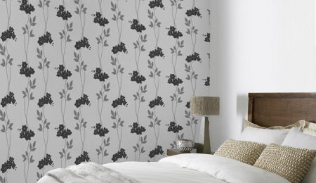 Graham & Brown Black/white serene wallpaper