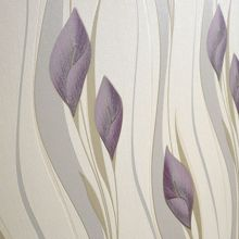 Graham & Brown Plum & Cream peace wallpaper