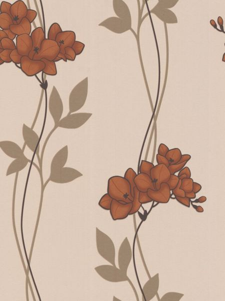 Graham & Brown Copper serene wallpaper
