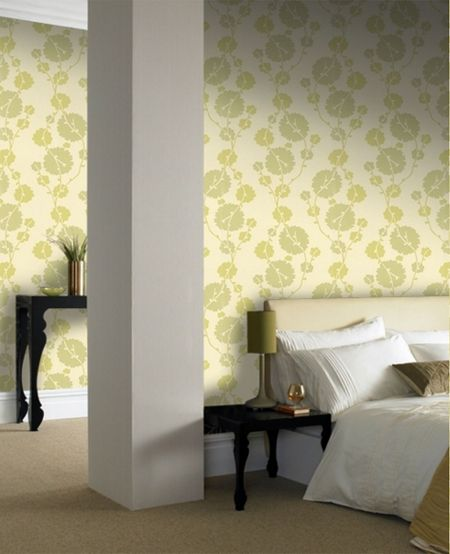 Graham & Brown Pale green georgia field wallpaper