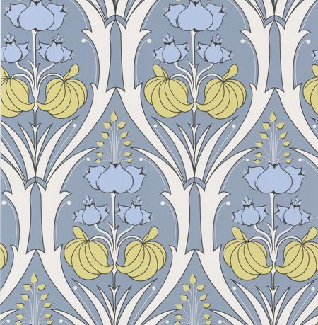 Graham & Brown Plue passion lily stone wallpaper