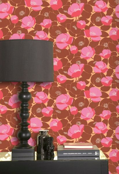 Graham & Brown Red field poppies sunset wallpaper