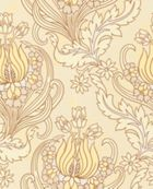 Graham & Brown Terracotta temple tulips field wallpaper