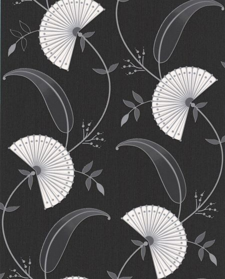 Graham & Brown Black /silver precious wallpaper