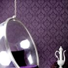Graham & Brown Grape vintage flock wallpaper