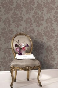 Graham & Brown Gold/taupe rose wallpaper
