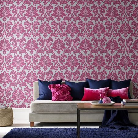 Graham & Brown Hot Pink majestic wallpaper