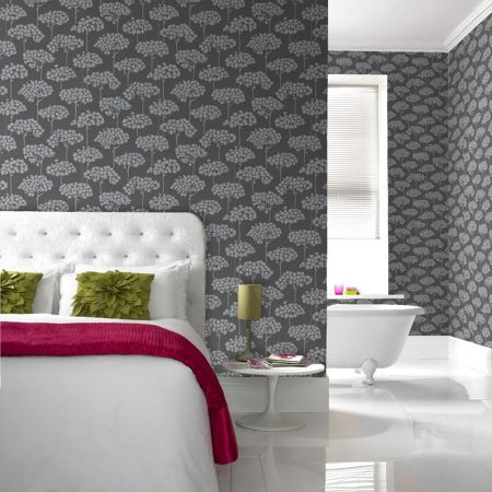 Graham & Brown Grey sherwood wallpaper