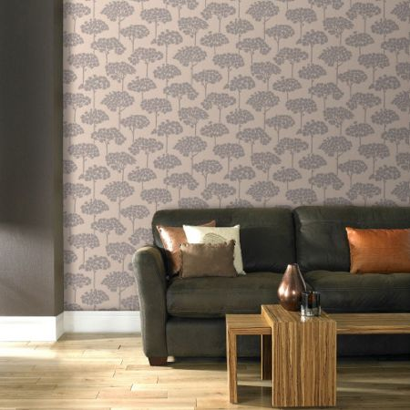 Graham & Brown Cream Sherwood Wallpaper