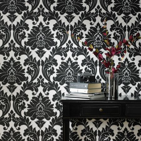 Graham & Brown Black/white majestic wallpaper