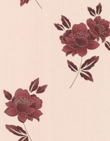 Graham & Brown Red lulu wallpaper