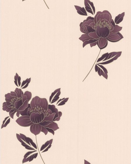 Graham & Brown Plum lulu wallpaper