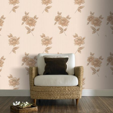 Graham & Brown Gold lulu wallpaper