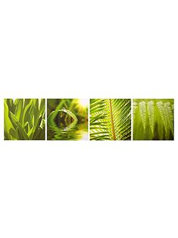 Graham & Brown Green leaf quad wall art