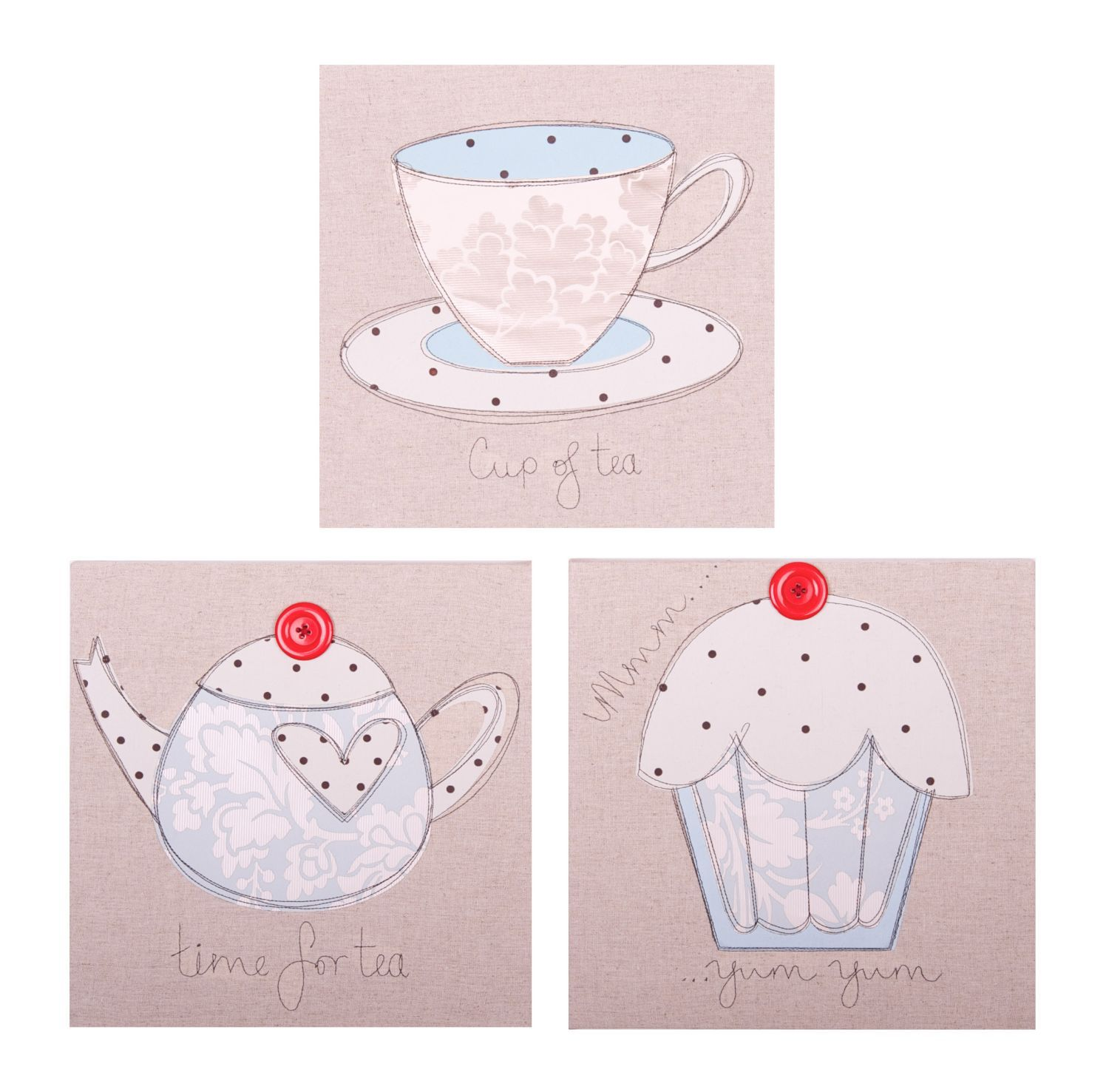 Luxury tea set wall art
