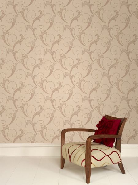 Graham & Brown Cream serenata wallpaper