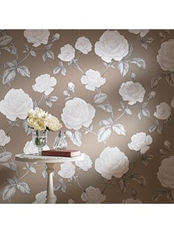 Taupe countess wallpaper