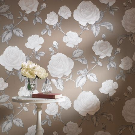 Graham & Brown Taupe countess wallpaper