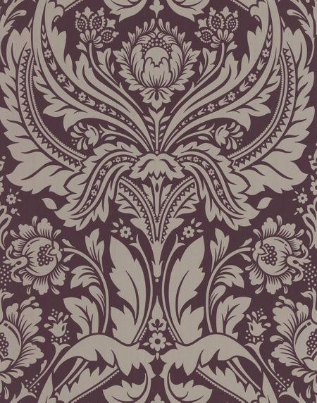 Graham & Brown Purple damson desire wallpaper